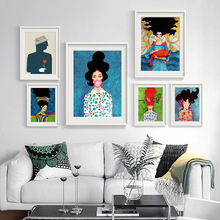 Nordic Modern Style Characters Colorful Canvas Painting Poster Print Decor Wall Art Pictures For Living Room Home Decor Unframed nordic canvas painting abstract living room golden art wall pictures print bedroom dinning room home decor unframed poster art