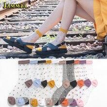 Cute Socks Korean-Style Ultra-Thin Spring Dots Transparent Summer Fashion Woman Silk