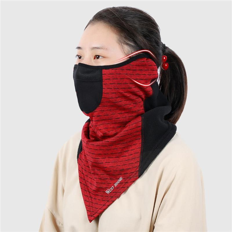 Hc1021ba820ff477db91c08d52b3f6b2cC WEST BIKING Winter Cycling Mask Fleece Thermal Outdoor Sports Facemask Bandana Headband Anti-UV Running Training Ski Face Mask