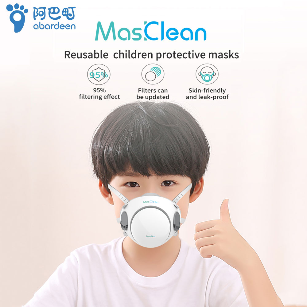 Fast Delivery Hot Sale Abardeen Electric Fan Kids Reusable Children's Mask N95 Filter Anti PM2.5 Dust Masks KN95/KF94/ffp2