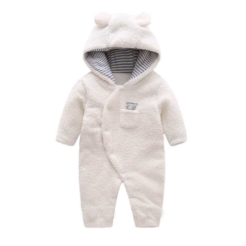 2019 Autumn And Winter Baby Onesie Thick Newborns Berber Fleece Even Foot Crawling Clothes Men And Women Baby Warm Out Clothes