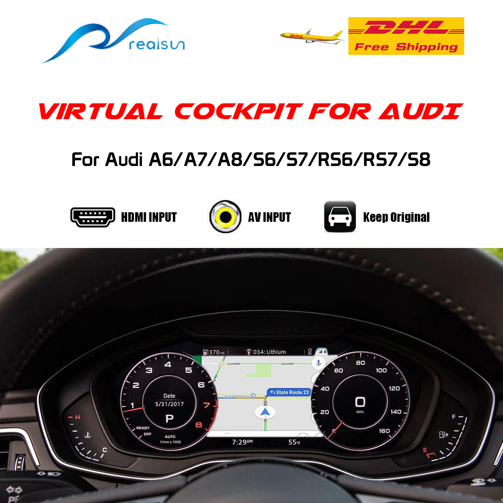 Виртуальный Кабельный инструмент кластер видео интерфейс для Audi A6/A7/A8/S6/S7/RS6/RS7/S8