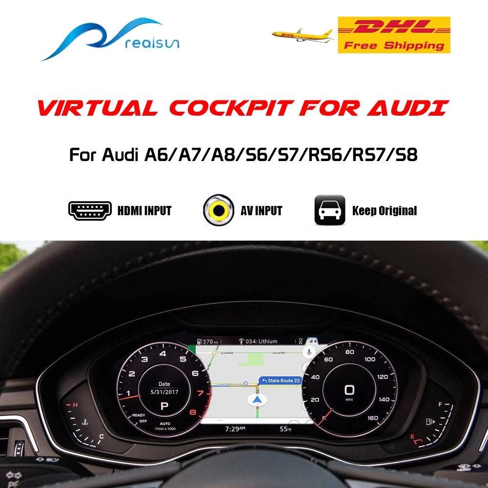 ห้องนักบินเสมือน Cluster วิดีโอสำหรับ Audi A6/A7/A8/S6/S7/RS6/RS7/S8