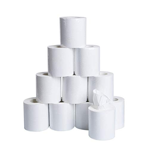 4/6/10 Rolls Toilet Paper 3-Layer Towel Household White Soft Bulk Rolls Bathroom Tissue Home Bulk Supplies