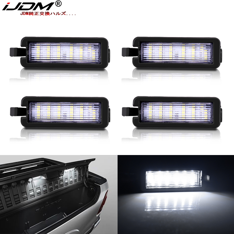 (4) Full White LED RamBox Interior Light Replacement Compatible With 2013-2019 Dodge RAM 1500 2500 3500 Truck Bed Storage Box