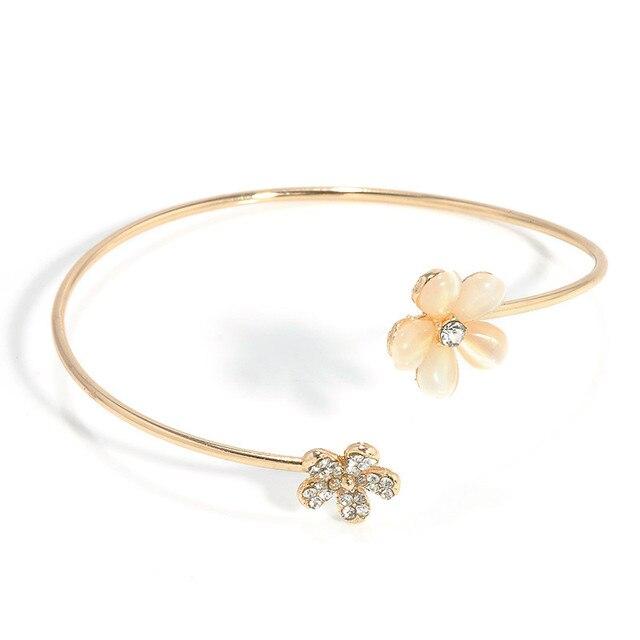 Women Flower Opal Crystal...