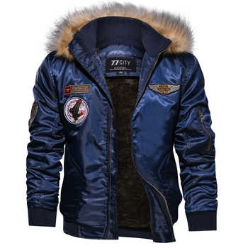 Winter Military Bomber Jacket Coat Men Air Force Army Tactical Jacket Warm Wool Liner Outerwear Parkas Hoodie Pilot Coat M-4XL - DISCOUNT ITEM  36% OFF All Category