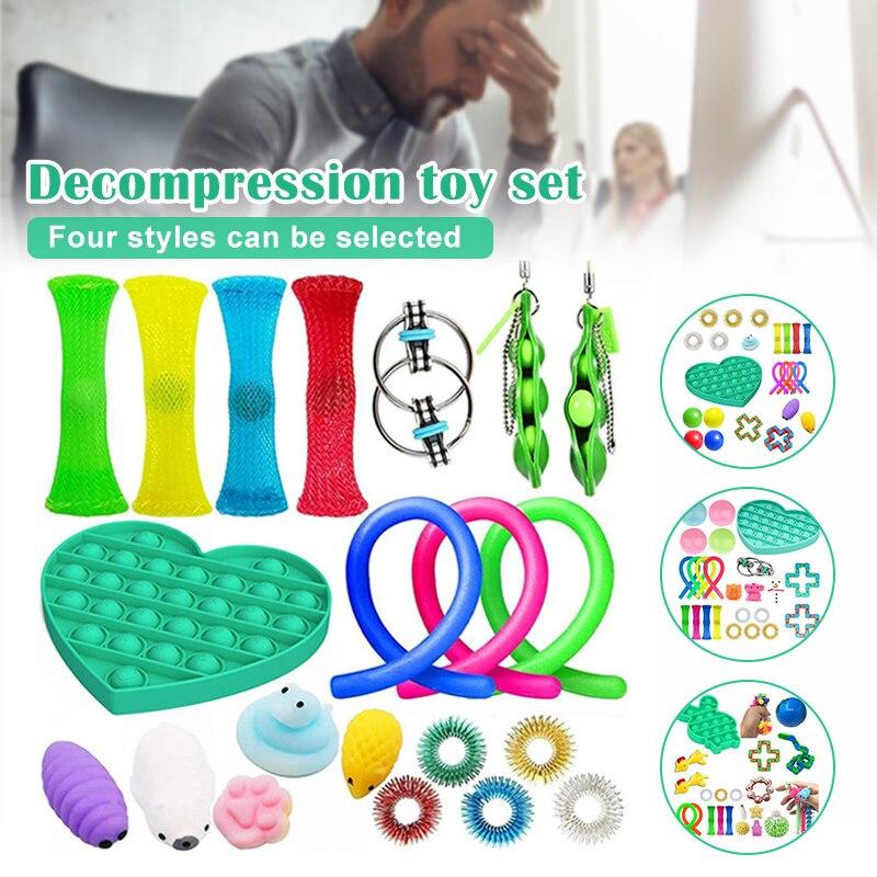 Ensemble de jouets sensoriels Fidget jouets pour enfants et adultes soulage le Stress besoin spécial jouets assortiment jouet pour fête d'anniversaire faveurs