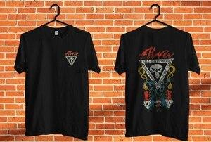 Винтаж 80s Deadstock черный Alva Danforth с логотипом Skull скейтборд футболка