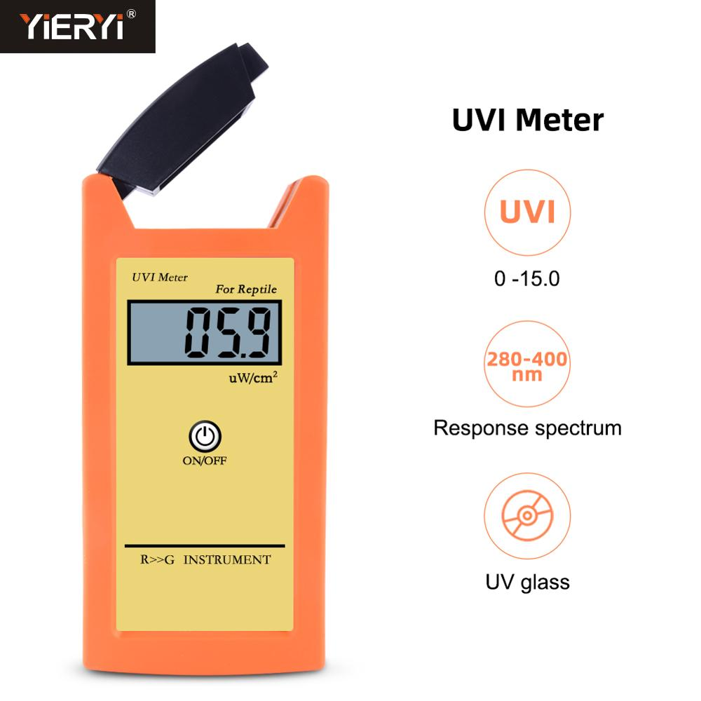 Yieryi Digital UVI Meter ± 10% REF. NIST High Precision Sun Index Tester UVI Ultraviolet Intensity Photometric Measurement Tool