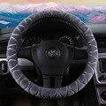 Новые поступления  красный плюшевый чехол на руль для девочек  теплый/Зимний универсальный чехол на руль автомобиля