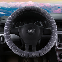 New Arrivals Red Girls Plush Car Steering Wheel Cover Warm /Winter Universal braid on the steering-wheel of car