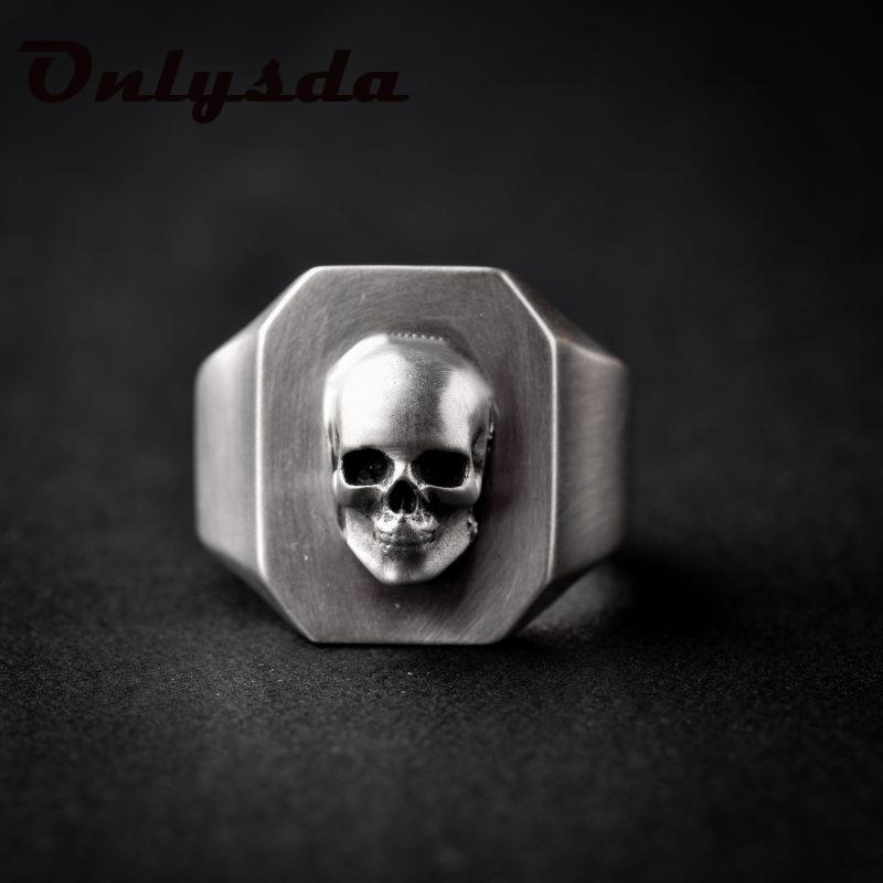 Дропшиппинг Для Мужчин's Calvarium череп кольцо в готическом стиле, 316L Нержавеющаясталь кольцо для байкеров Мотоцикл Группа ювелирные изделия ...
