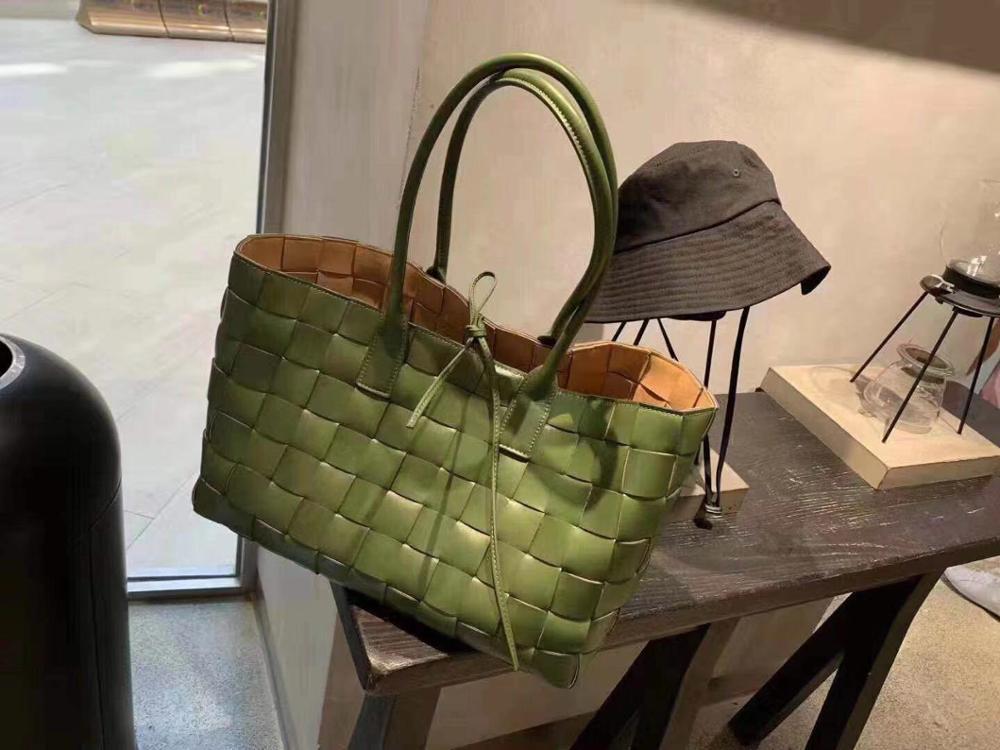 2019 designer sênior marca tecido grande capacidade de couro tecido bolsa alta qualidade saco tecidoBolsas de ombro   -