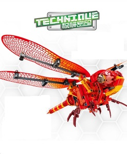 Image 5 - Ewellsold Simulated insect Bee Dragonfly Building Blocks CompatibleTechnic animals city Bricks Educational Toys for Children