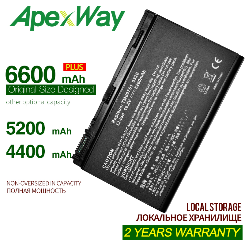 ApexWay Laptop <font><b>Battery</b></font> For <font><b>ACER</b></font> Extensa <font><b>5210</b></font> 5220 5230 5420 5610 5620 5630 7220 7620 for TravelMate 5320 5520 5530 5710 GRAPE32 image