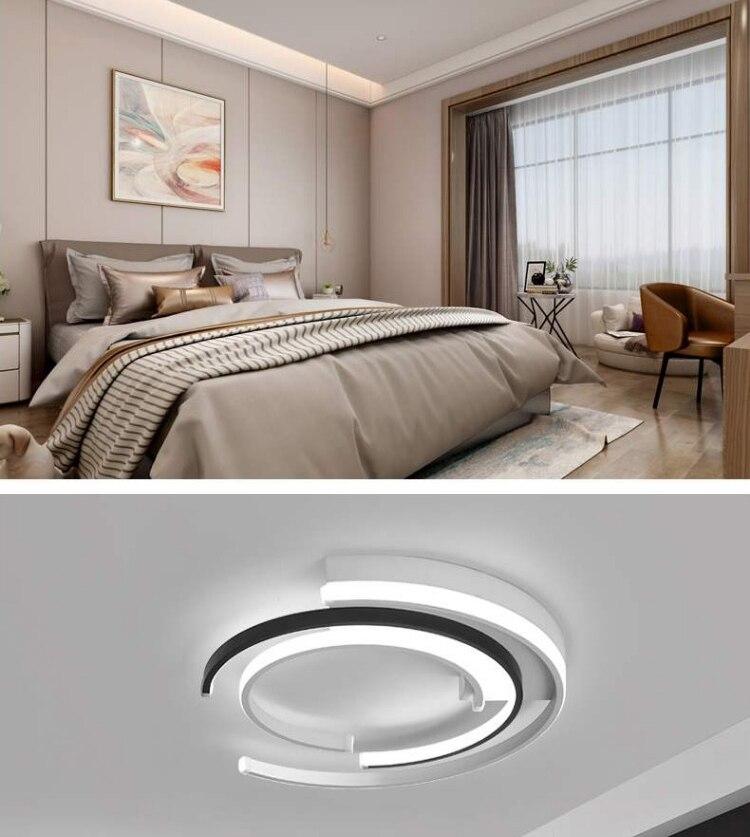 Hc103aecc73194dd99d2acb2e43b1a3faQ LICAN Modern LED Ceiling Lights Living room Bedroom lustre de plafond moderne luminaire plafonnier White Black LED Ceiling Lamp