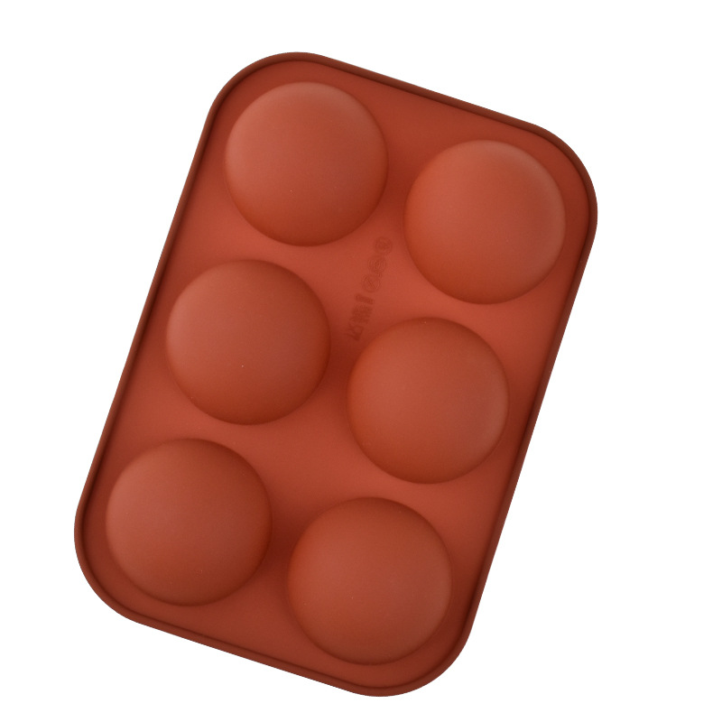 Hemispherical Silicone Mold For Baking Hot Chocolate Bombs, Cakes, Jellies, And Dome Mousse