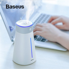 Baseus Luft Ionisation Diffusor USB Luftbefeuchter Für Home Office Auto Aroma Air Diffusor Smart Luftbefeuchter Mit bunte Lampe Fan(China)