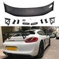 Задний спойлер из углеродного волокна для автомобиля Porsche Cayman Boxster 981 GT4 черный Стайлинг из углеродного волокна