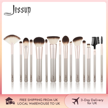 Jessup 15Pcs Champagne Gold Make Up Kwasten Beauty Tools Professionele Make Up Poeder Foundation Oogschaduw Make Up Brush