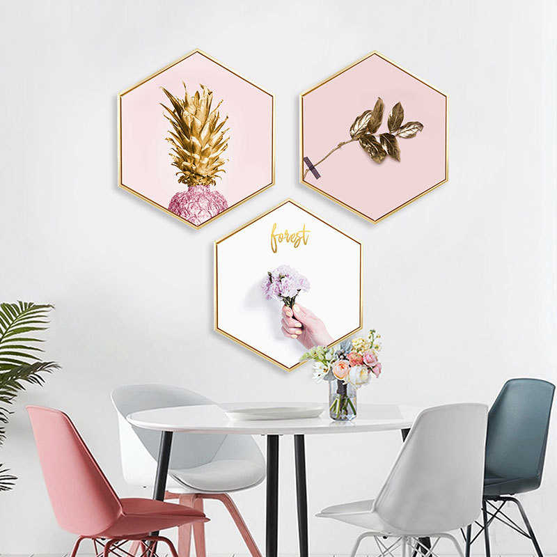 Instagram Style Pink Oil Canvas Cuadros Decoracion Salon Wall Pictures For Living Room With Picture Frame Wall Art Paris Hotel