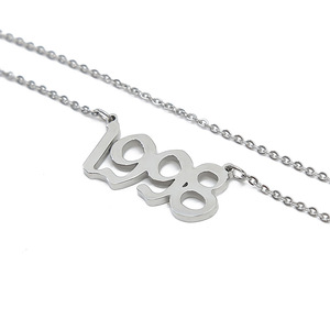 Image 5 - Personalized Wedding Date Necklace Anniversary Jewelry 2001 2002 2003 2004 2005 2006 2007 2008 Custom Birth Year Necklaces BFF