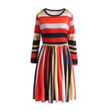 Лидер продаж; Платье принцессы в полоску с длинными рукавами;