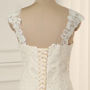 Image 5 - Jiayigong Plus Size Wedding Dress Cap Sleeves Sweep Train Wedding Vestidos Cerimonia Vestido De Noiva Bridal Gowns