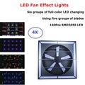 Профессиональные светодиодные световые эффекты вентилятора 160 шт. SMD5050 светодиодные сценические огни идеально подходят для вечеринки свад...