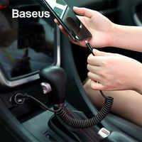 Câble USB à ressort Baseus pour chargeur iPhone câble de données de charge rapide USB pour fil de rangement de style de voiture pour iPhone X 8 7 6 6s Plus