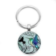 2019 New Classic Warm Toucan Pattern Keychain Glass Cabochon Art, Style