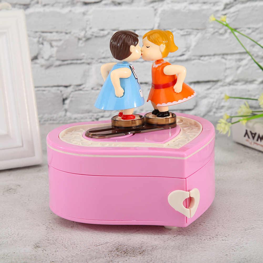 Retro Rotating Music Box Wedding Party Ornaments Girl Valentine Gift for Children Birthday Presents Home Decoration