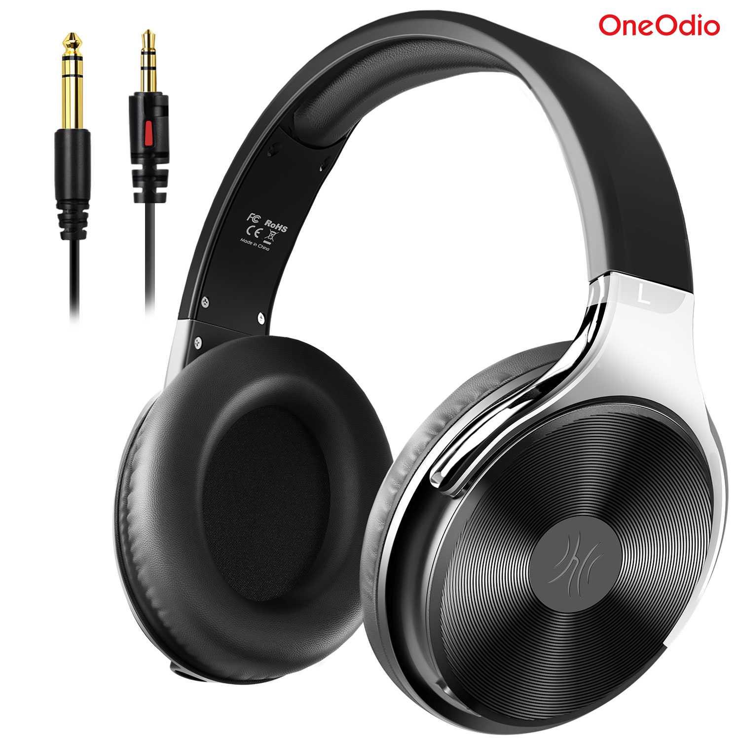 Oneodio Studio HI-FI Headphones High Definition Sound Over Ear Wired Headset With Mic Closed-Back HIFI Headphone 3.5/6.35 Jack image