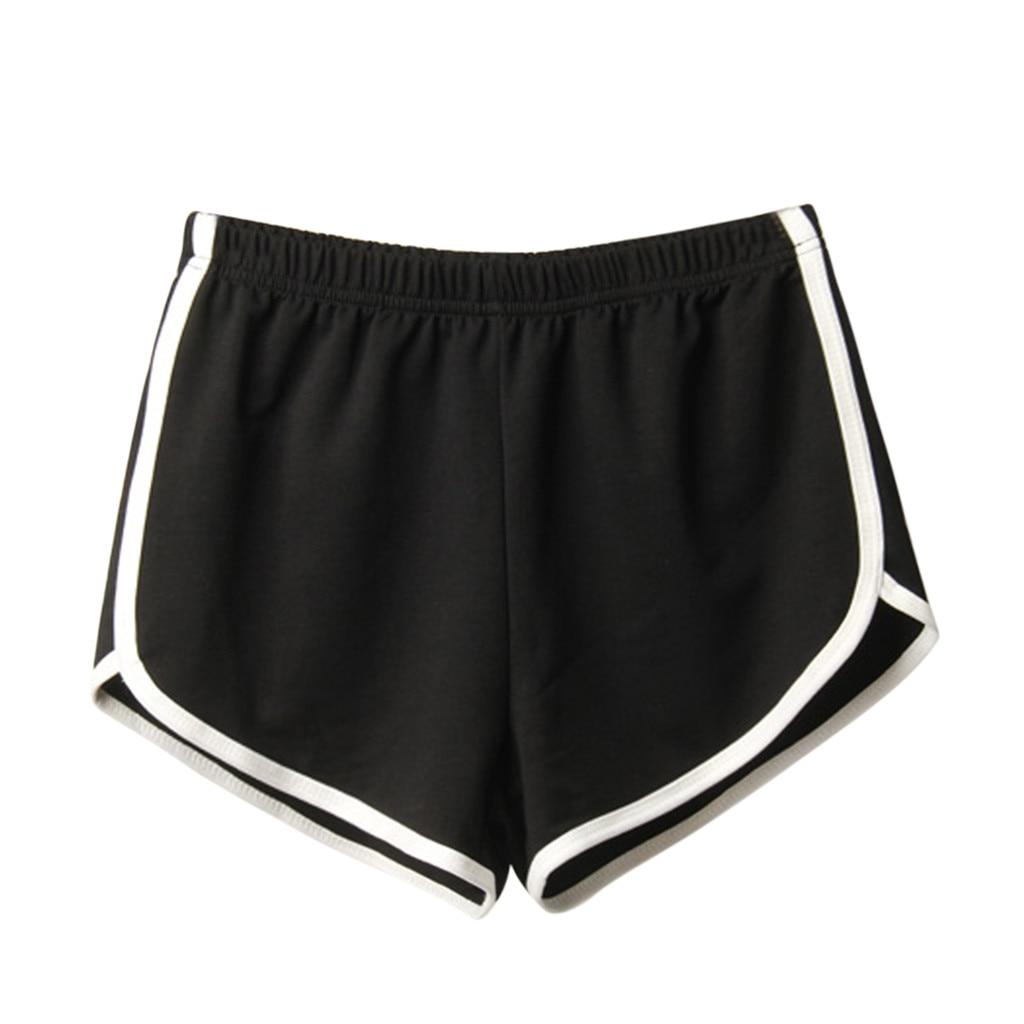 Sports Shorts Women Summer 2019 New Candy Color Fashion Skinny Shorts Casual Lady Elastic Waist Beach Correndo Short Pants 5