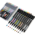 Набор металлических маркеров 1-7 мм, 10 шт., мягкие наконечники для рисования, каллиграфическая живопись, товары для рукоделия F929