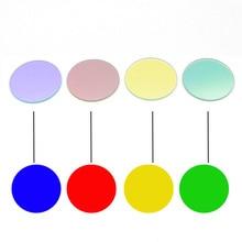 2 個 41.8 ミリメートル × 2 ミリメートル白緑黄赤青の色コーティングされたガラスレンズ用 Q5 L2 t6 XPL LED C8 C10 C12 懐中電灯
