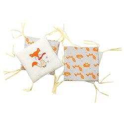 6 sztuk osłona do łóżeczka poduszka do karmienia piersią lisa pościel dla dzieci poduszka szopka ochraniacz zderzaka noworodka dekoracja do pokoju dziecięcego|Zderzaki|   -