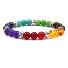 Seven Colors Couples Distance Bracelet Classic Natural Stone Beaded Bracelets For Men Women Bileklik Rope Chain Charm