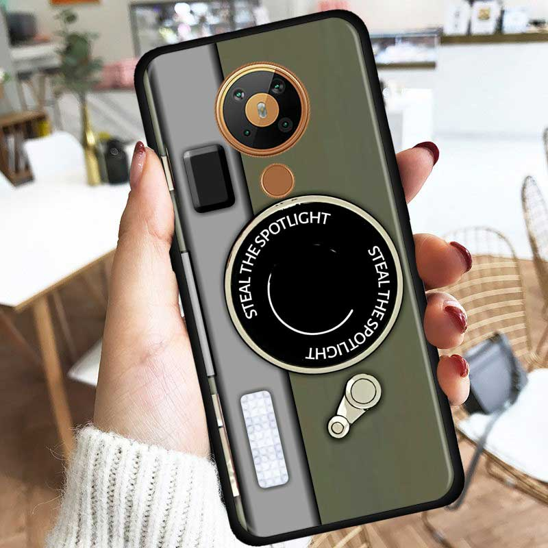 Camera Battery Calculator Silicone Phone Case For Nokia 2.2 2.3 3.2 4.2 7.2 1.3 5.3 8.3 2.4 3.4 C3 C2 1.4 5.4