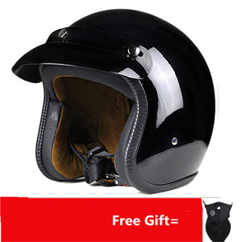 Motorcycle Motorbike Rider retro open face helmet Casco Casque Moto  Retro vintage Helmets dot S M L XL matte black цена 2017