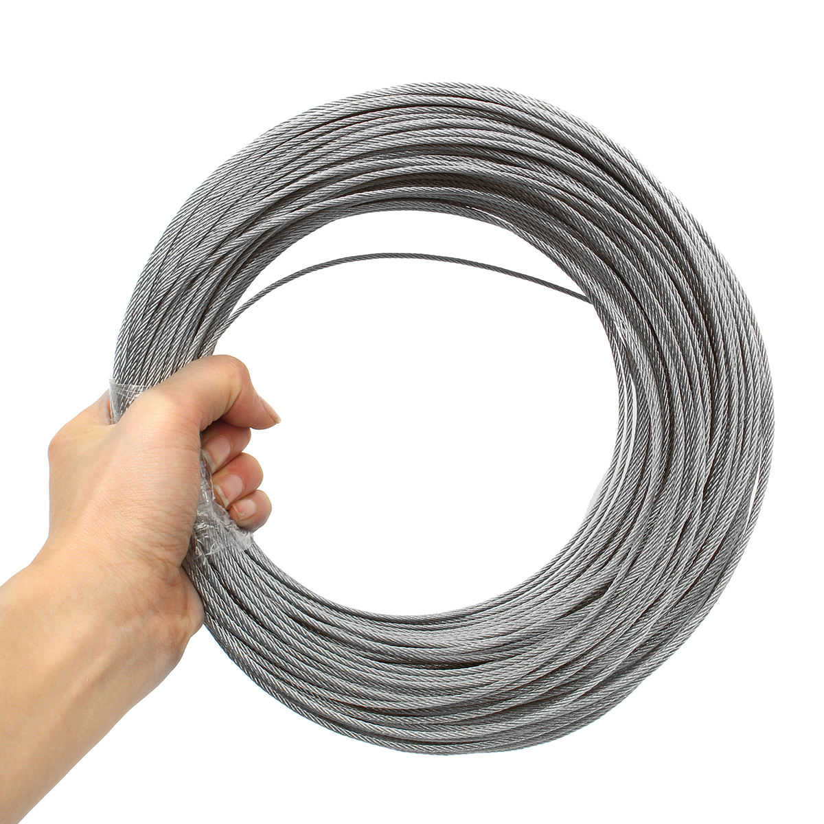 Stainless Steel Wire Rope Tensile Diameter 2mm Structure Cable Fishing Lifting Cable 1M/ 5M/ 10M/15M/ 20M/25M/50M/100M