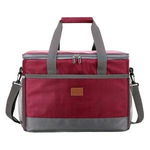 Image 4 - A tenuta Rosso Blu 33L Isolato sacchetto del Pranzo di Raffreddamento per Picnic esterna del sacchetto Termico Auto utilizzando Bolsa termica loncheras para mujer