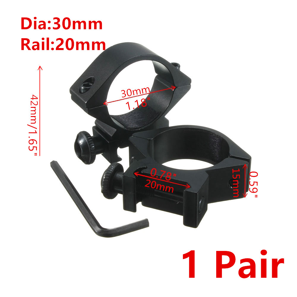MIZUGIWA Scope Mount 30mm Rings For Weaver Picatinny 20mm Rail Optics Sight Rifle Pistol Airsoft Gun Hunting Caza