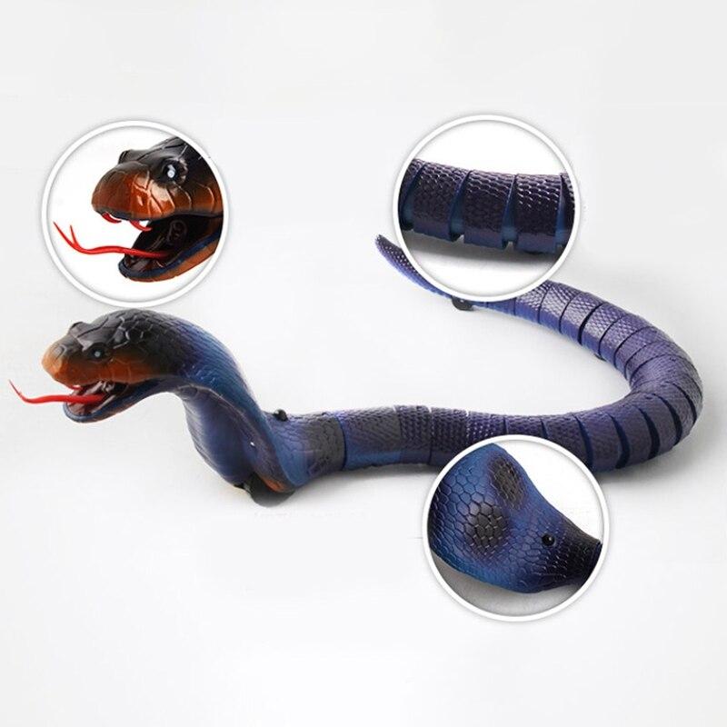 Brinquedo engraçado elétrico complicado infravermelho controle remoto animal cobra modelo