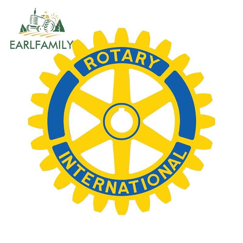 EARLFAMILY 13cm X 13cm For Rotary Club Logo Decal And Car Stickers Waterproof Air Conditioner Body For Car Personality