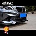 Автомобильный Стайлинг  Новое поступление  углеродное волокно  передний бампер для губ  подходит для 2014-2017 F22 2 серии F87 M2 VRS AERO Style  передняя гу...