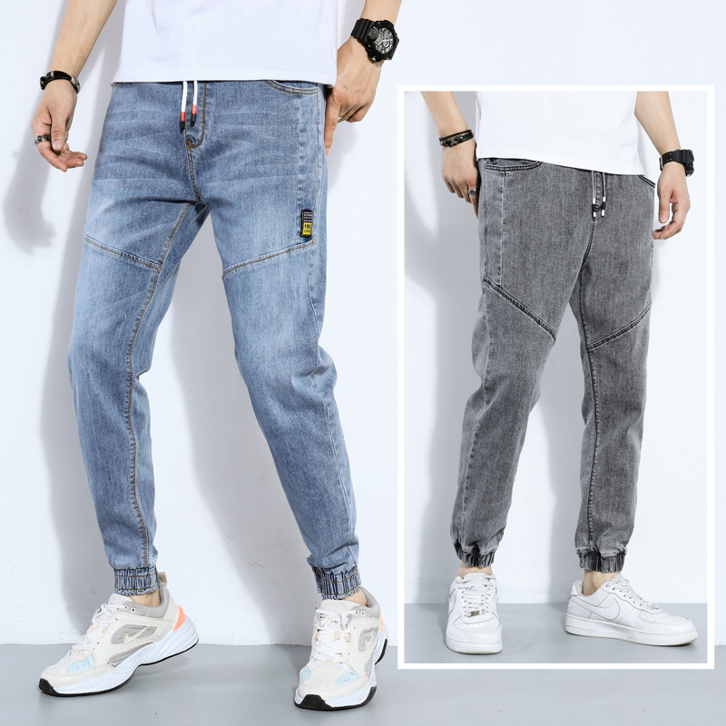 High Quality Spring Fashion Casual Washing Vintage Teenagers Thin Jeans Pants Men Loose Harem Pants Male