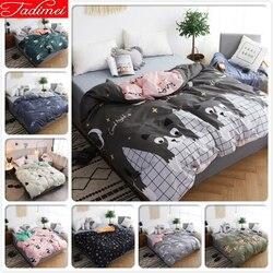 Cute Cat Kitty wzór 1 sztuka łóżko kołdra pokrywa dla dorosłych dzieci miękka bawełniana narzuta pojedyncze pełna Twin królowej King Size 150x200 180x220 w Kołdra od Dom i ogród na
