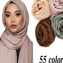 Shawls Hijab Scarf Wraps Crinkle Musulman Islamic Muslim Wholesale-Price Femme Women